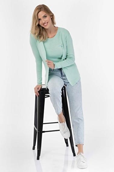 Silk and Cashmere Bluz Yeşil